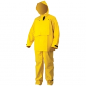 River City FR2603 Hydroblast Limited Flammability Rain Suit - 0.35mm PVC/Polyester - Yellow