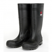River City PBP120 Plain Toe PVC Rain Boots - Black