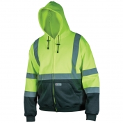 River City SSCL3LZ Class 3 Black Bottom Safety Sweatshirt - Yellow/Lime