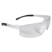 Radians Rad-Sequel Safety Glasses - Black Temple Tips - Clear Lens