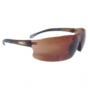 Radians Rad-Sequel RSX Safety Glasses - Smoke Temple Tips - Coffee Bifocal Lens