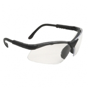 Radians Revelation Safety Glasses - Smoke Frame - Clear Anti-Fog Lens