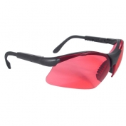 Radians Revelation Safety Glasses - Smoke Frame - Vermillion Lens