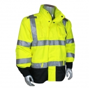 Radians RW32-3Z1Y Heavy Duty Rip-Stop Waterproof Rain Jacket - Yellow/Black