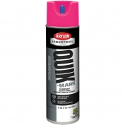 Krylon A03622007 Quik-Mark Solvent Based Inverted Marking Paint - Fluorescent Pink - 20 oz Can (Net Weight 17 oz)