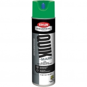 Krylon A03631007 Quik-Mark Solvent Based Inverted Marking Paint - APWA Green - 20 oz Can (Net Weight 17 oz)