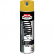 Krylon A03823007 Quik-Mark Solvent Based Inverted Marking Paint - APWA Safety Yellow - 20 oz Can (Net Weight 17 oz)