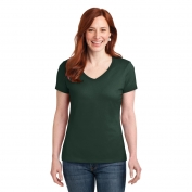 Hanes S04V Ladies Nano-T Cotton V-Neck T-Shirt - Deep Forest