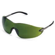 Crews Blackjack Safety Glasses - Metal Temples - Green Shade 3.0 Lens