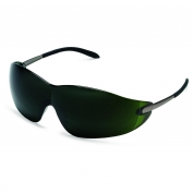 Crews Blackjack Safety Glasses - Metal Temples - Green Shade 5.0 Lens