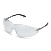 Crews Blackjack Safety Glasses - Metal Temples - Light Gray Lens