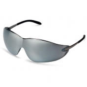 Crews Blackjack Safety Glasses - Metal Temples Silver Mirror Lens