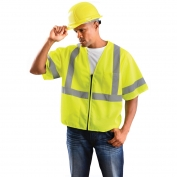OK-1 S3L-04 Class 3 Classic Mesh Standard Vest - Yellow/Lime