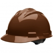 Bullard S61CBR Standard Hard Hat - Ratchet Suspension - Chocolate Brown