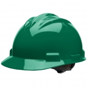 Bullard S61FGR Standard Hard Hat - Ratchet Suspension - Forest Green