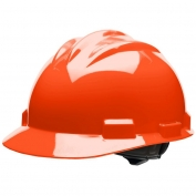 Bullard S61HOR Standard Hard Hat - Ratchet Suspension - Hi-Viz Orange
