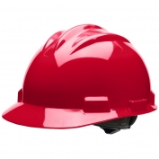 Bullard S61RDR Standard Hard Hat - Ratchet Suspension - Red