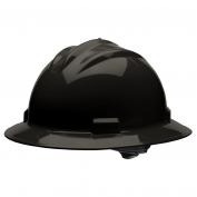 Bullard S71BKR Standard Full Brim Hard Hat - Ratchet Suspension - Black