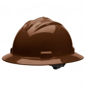 Bullard S71CBR Standard Full Brim Hard Hat - Ratchet Suspension - Chocolate Brown