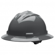 Bullard S71DGR Standard Full Brim Hard Hat - Ratchet Suspension - Dove Grey