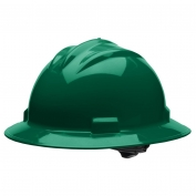 Bullard S71FGR Standard Full Brim Hard Hat - Ratchet Suspension - Forest Green