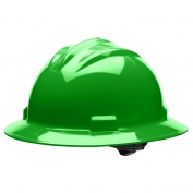 Bullard S71HGR Standard Full Brim Hard Hat - Ratchet Suspension - Hi-Viz Green
