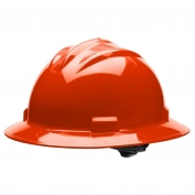 Bullard S71HOR Standard Full Brim Hard Hat - Ratchet Suspension - Hi-Viz Orange