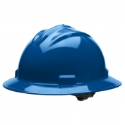 Bullard S71KBR Standard Full Brim Hard Hat - Ratchet Suspension - Kentucky Blue