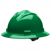 Bullard S71KGR Standard Full Brim Hard Hat - Ratchet Suspension - Kelly Green
