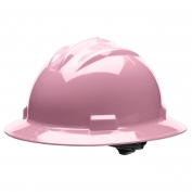 Bullard S71LPR Standard Full Brim Hard Hat - Ratchet Suspension - Light Pink