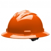 Bullard S71ORR Standard Full Brim Hard Hat - Ratchet Suspension - Orange