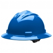 Bullard S71PBR Standard Full Brim Hard Hat - Ratchet Suspension - Pacific Blue