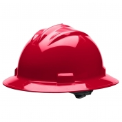 Bullard S71RDR Standard Full Brim Hard Hat - Ratchet Suspension - Red