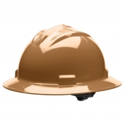 Bullard S71TNR Standard Full Brim Hard Hat - Ratchet Suspension - Tan