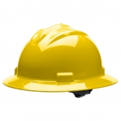 Bullard S71YLR Standard Full Brim Hard Hat - Ratchet Suspension - Yellow