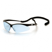 Pyramex PMXTREME Safety Glasses - Black Frame - Infinity Blue Lens