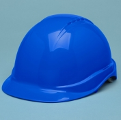 Elvex SC-50-4R Tectra Hard Hat - 4-Point Ratchet Suspension - Blue