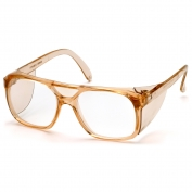 Pyramex SC210C Monitor Safety Glasses - Caramel Frame - Clear Lens