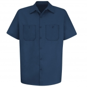 Red Kap SC40 Men's Wrinkle Resistant Cotton Work Shirt - Short Sleeve