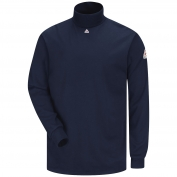 Bulwark FR SEK2NV Men's Tagless Mock Turtleneck - EXCEL FR - 6.25 oz.