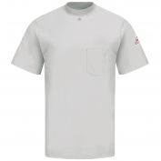 Bulwark FR SET8 Men's Short Sleeve Tagless T-Shirt - EXCEL FR - 6.25oz. - Grey