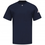 Bulwark FR SET8 Men's Short Sleeve Tagless T-Shirt - EXCEL FR - 6.25oz. - Navy