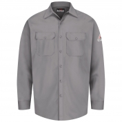 Bulwark FR SEW2 Men's Work Shirt - EXCEL FR - 7 oz. - Silver Grey