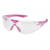 Elvex SG-18C-Slim-PINK Avion Safety Glasses - Pink Frame - Clear Lens