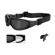 Wiley X SG-1 Glasses/Goggles - Matte Black Asian Fit Frame - Grey & Clear Lenses