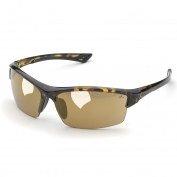 Elvex SG-350M Sonoma Safety Glasses - Tortoise Shell Frame - Light Gold Mirror Lens