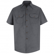 Red Kap SH20 Men's Heathered Poplin Uniform Shirt - Short Sleeve