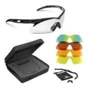 Radians Shift Shooting Glasses - Black Frame - Five Lens Interchangeable Kit