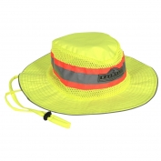 Radians SHG Hi-Viz Safari Hat with Logo - Yellow/Lime