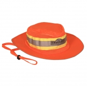 Radians SHO Hi-Viz Safari Hat with Logo - Orange